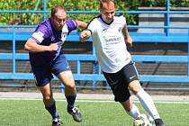 Zápas Superligy malého fotbalu Blanensko - Jihlava.