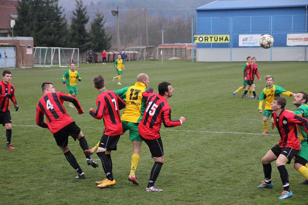 Fotbalisté Ráječka porazili 2:1 Spartu Brno.