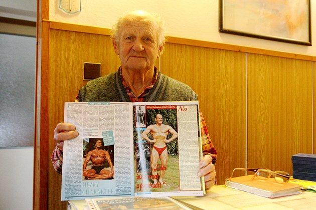 Nestor domácí kulturistiky Josef Krupa oslavil pětaosmdesát.