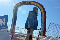 Desítky rodičů a dětí navštívily v sobotu dětský den na svahu ve Ski areálu v Hodoníně u Kunštátu.