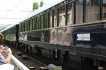 Blanskem projel legendární vlak Orient Express s půlhodinovým zpožděním.