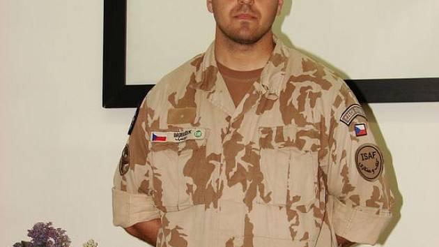 Jiří Drobeček z Boskovic - člen jednotky ISAF.