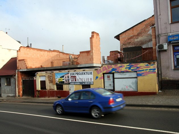 Vznikající polyfunkční dům na ulici Kapitána Jaroše v Boskovicích.