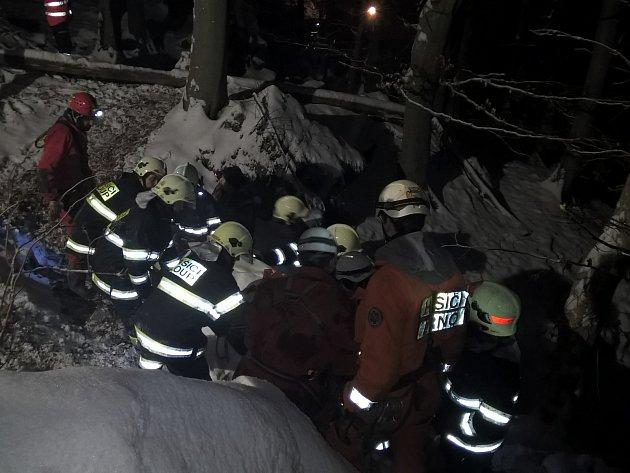 Více než šest hodin trvala záchrana jeskyňáře. Ten v sobotu v Chráněné krajinné oblasti Moravský kras u Holštejna na Blanensku uvíznul kvůli zraněné noze v jeskyni Lipovecká ventarola.
