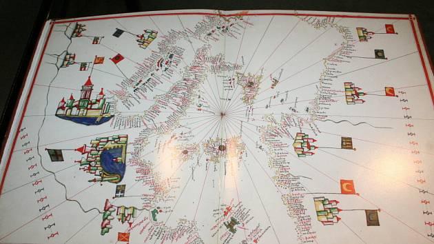 Moravské kartografické centrum ve Velkých Opatovicích nabízí až do 17.května k vidění Portolánový (námořní) atlas z roku 1563
