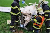 Letecká nehoda u Kořence.