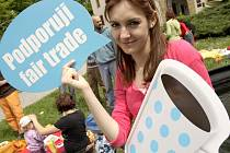 Ranní piknik pro fair trade.