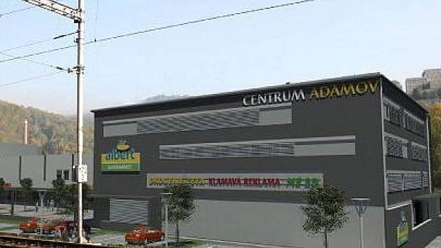 Vizualizace multifunkčního centra v Adamově.