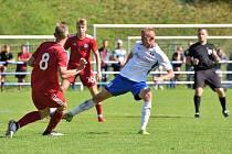PŘERUŠENÉ JARO. Do utkání s Uničovem, které Blansko prohrálo 0:1, ještě slovenský záložník Adrián Kopičár (na snímku vpravo) nezasáhl, na případná další utkání už je připravený.