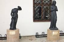 Litinové sochy z blanenských železáren zdobí Wanklovo náměstí, předzámčí a také zámecký park.