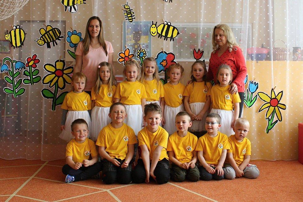 Děti ze třídy Motýlci z Mateřské školy Komenského Letovice.