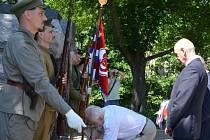 Památku československých legionářů v bitvě u Zborova uctili lidé v Blansku.