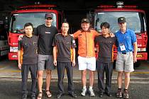 Tým Josefa Nečase se ve Světových hasičských hrách v jižní Korei umístil na 4. místě.