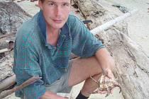David Hlavatý na pobřeží Thajska.