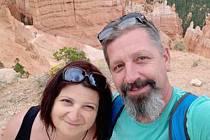 Jana Skotáková s manželem.
