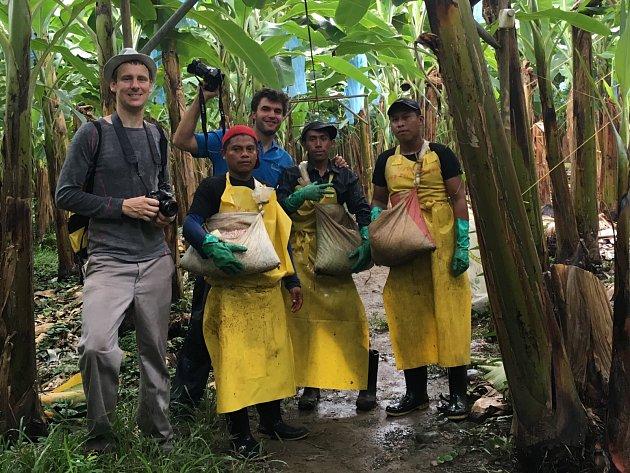 Příběh banánu. To je téma třetího ročníku Výstavy na stromech. Unikátní fotografie, které mapují život dělníků na kostarických a panamských plantážích, visí od soboty v desítkách parků v republice. Jedním z nich je i park u blanenského zámku.