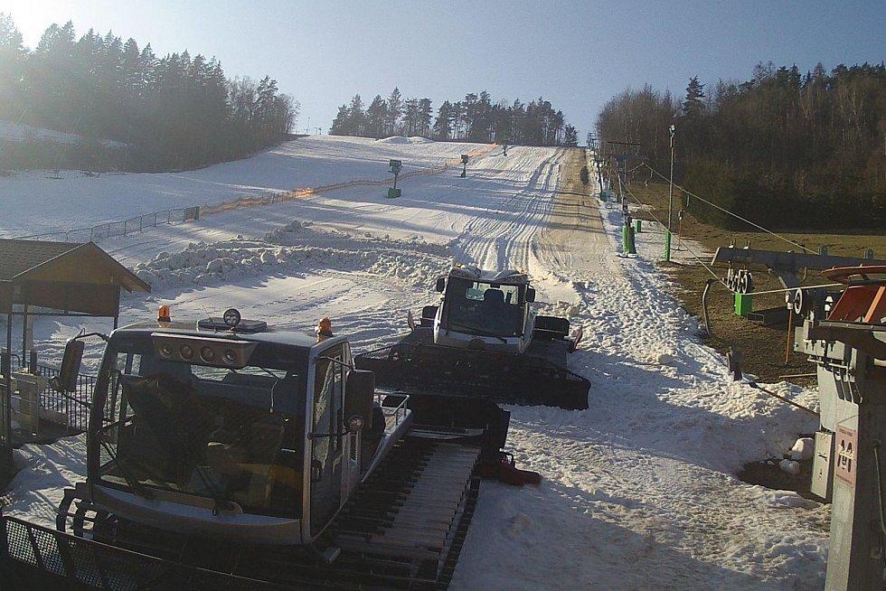 Ski areál v Olešnici na Blanensku.