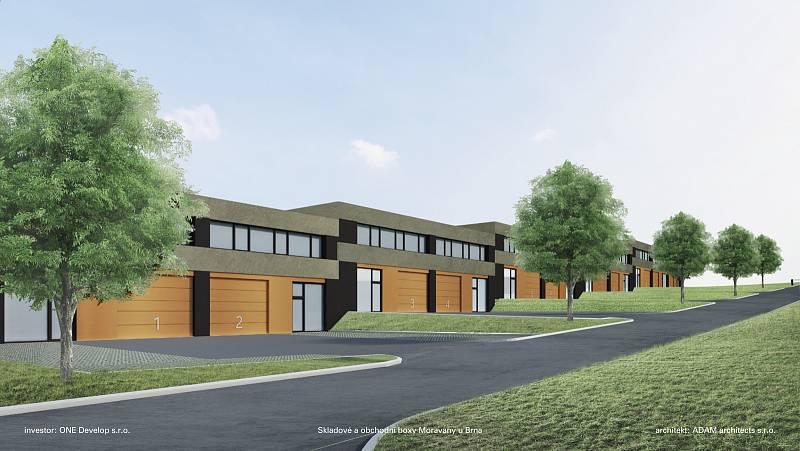 Stavební firma odložila budování jedenácti malých hal v Hrušovanech u Brna. Čeká na příznivější podmínky.