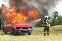 Vavřinecký sbor dobrovolných hasičů v pátek a v sobotu slavil sto dvacet let své existence.