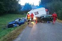 Nehoda v úterý večer u Křtin na Blanensku.