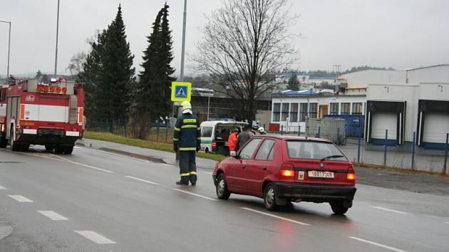 Dopravní nehoda v Blansku na Poříčí