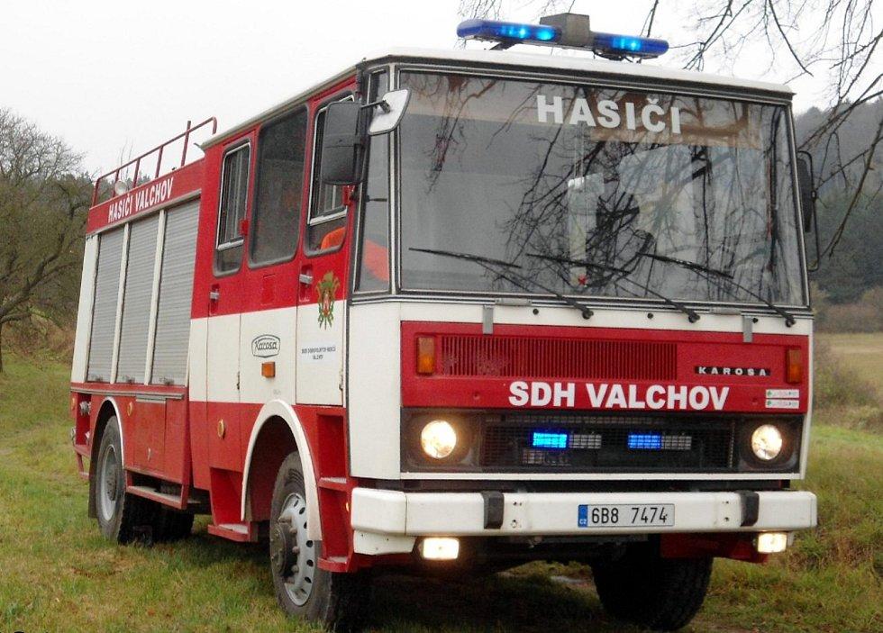 Zásahové vozidlo SDH Valchov.