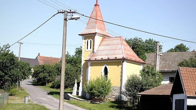 Kaplička v místní části Kunštátu Touboři.