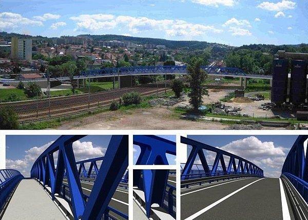 Vizualizace nového mostu vBlansku.