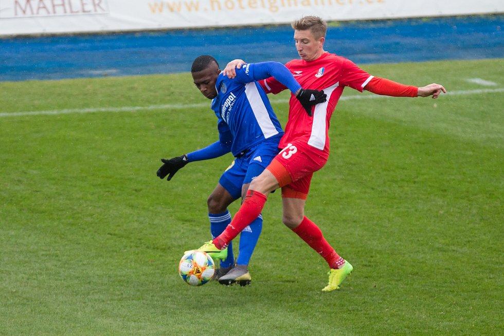 Fotbalové utkání 8. kola FNL mezi FC Vysočina Jihlava a FK Blansko.