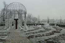 Zimní pohled do tematických zahrad lednického zámku Foto: Michaela Brázdová