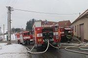 Ve Štěchově na Blanensku shořelo hospodářské stavení.