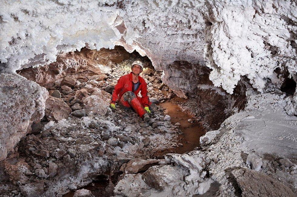 Solná jeskyně v Tadžikistánu.