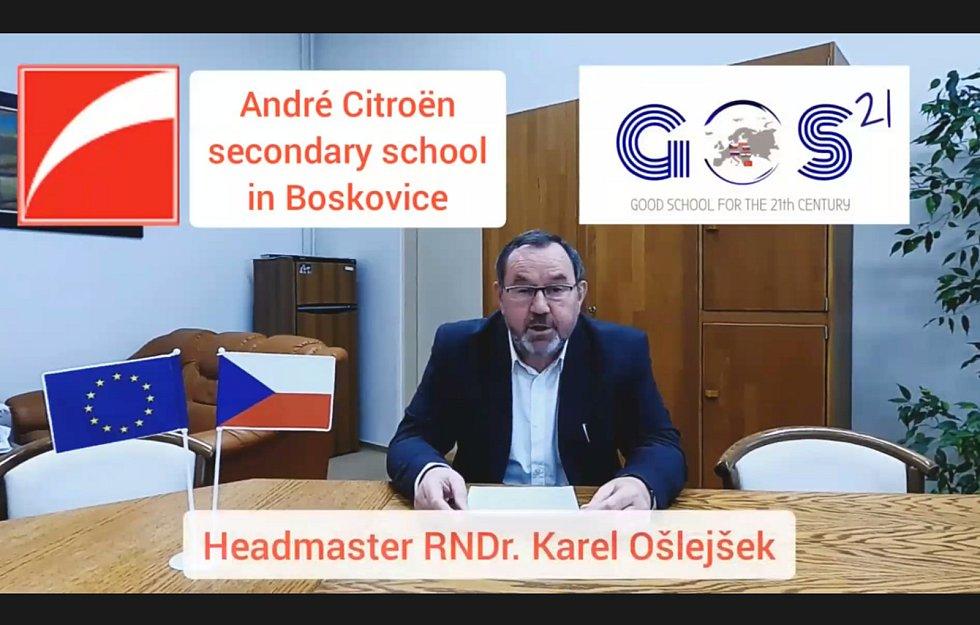 Boskovická škola André Citroëna uspořádala online mezinárodní konferenci středních škol.