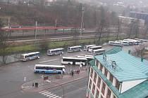 Autobusové nádraží v Blansku.