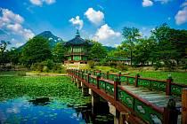 Jižní Korea. Ilustrační foto. Na snímku palác Kjonbokun v Soulu.
