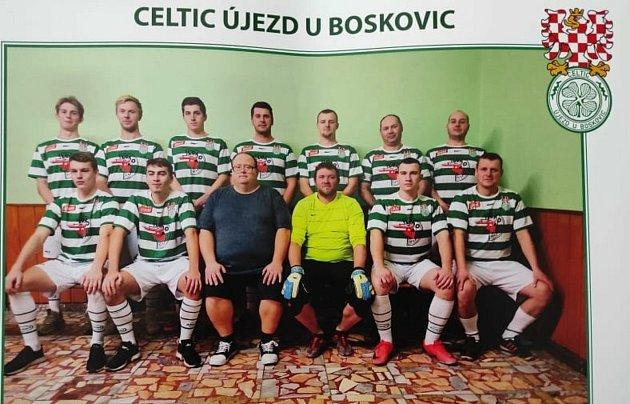 Fotbalisté Celticu Újezd uBoskovic.