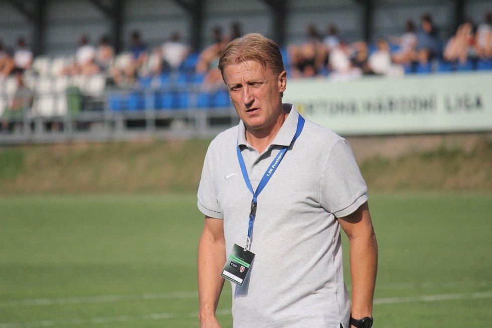 Oldřich Machala ještě jako trenér Prostějova.