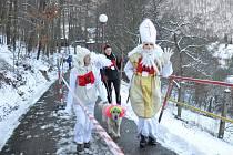 Adamovští pořádali třetí ročník mikulášského běhu do vrchu.