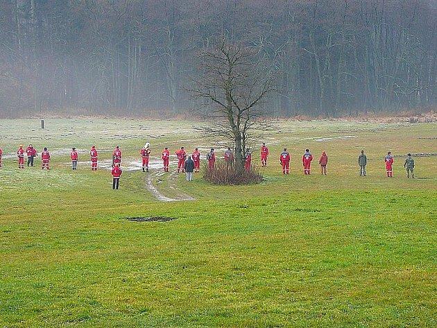 Cvičení záchranářů Červeného kříže.