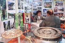 Ojedinělé blanenské umělecké litině patří ve stánku na veletrhu čestné místo.