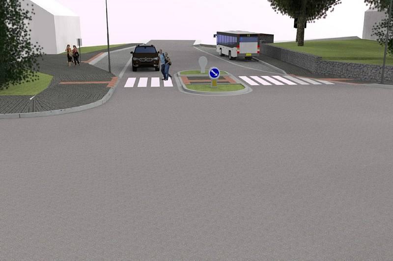 V Šebetově upraví nebezpečnou křižovatku. Postaví zálivy pro autobusy.
