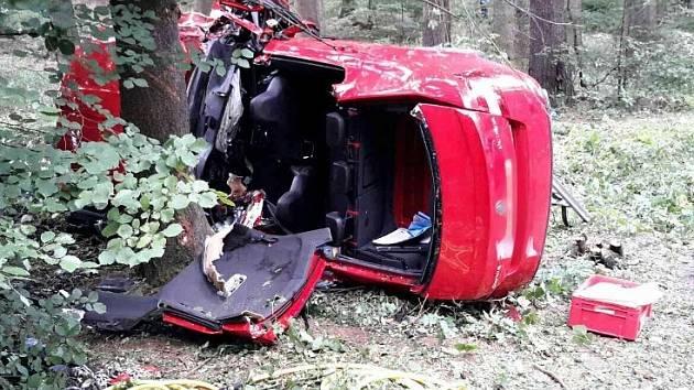 Třicetiletý řidič u Žďárné ve vysoké rychlosti narazil do stromu.