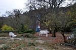 Nedělní vichřice poškodila také střechu na budově Zámeckého skleníku v Boskovicích a stromy v přilehlém parku.