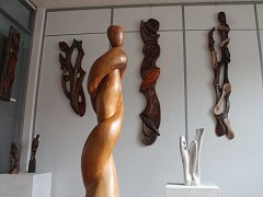 V blanenské galerii Jonáš jsou k vidění dřevořezby Vladimíra Michálka.