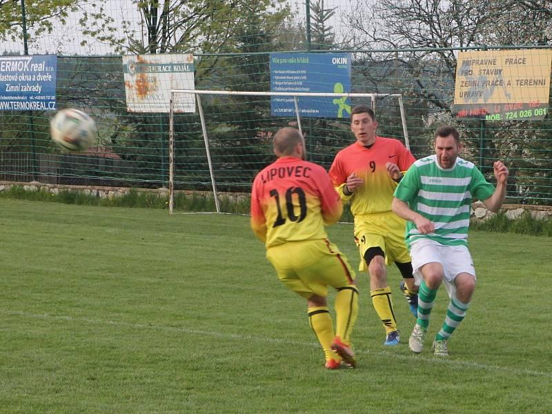 Fotbalisté Rájce-Jestřebí byli v derby v Lipovci většinu zápasu lepší. Přesto nakonec odjeli s prohrou 1:0.