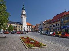 Radnice je dominantou Masarykova náměstí v Boskovicích.