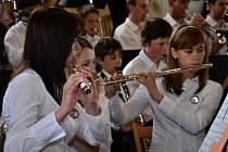 Muzikanti na Mezinárodním festivalu dechových orchestrů v Letovicích
