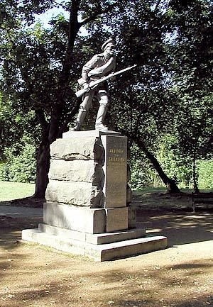 Blanenský památník padlým vojákům v bitvě u Zborova.