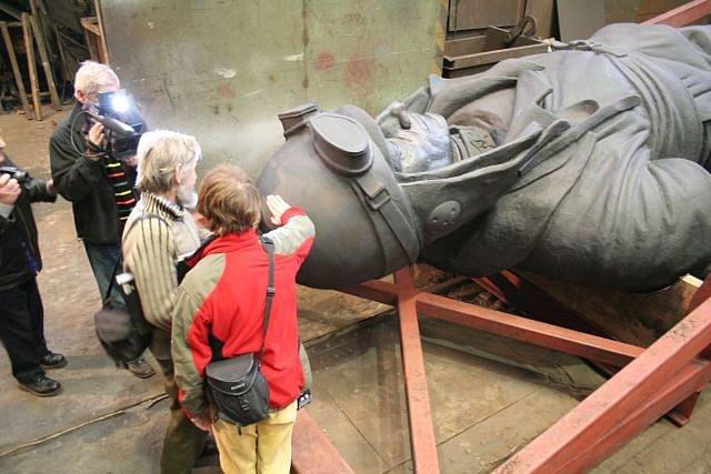 Zatím největší socha, jaká byla v blanenských železárnách vyrobena.
