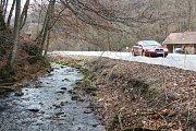 Zábrany v Josefovském údolí u Adamova mají nasměrovat žáby mimo silnici. Jinak končí pod koly aut.